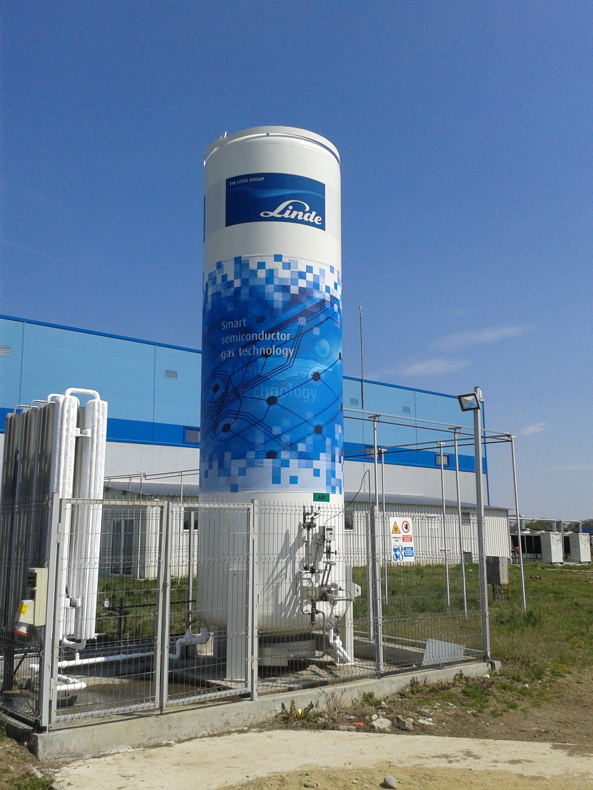 LINDE-Decorare rezervor gaz